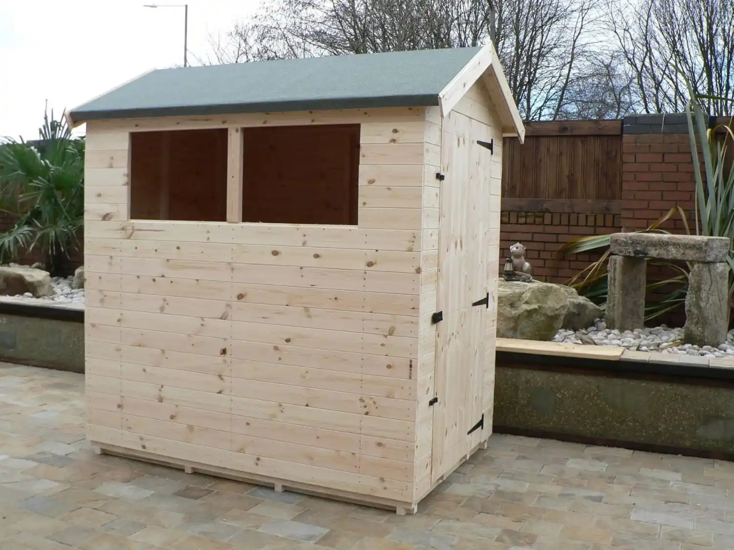 6' X 4' Apex Shed Full Size Windows