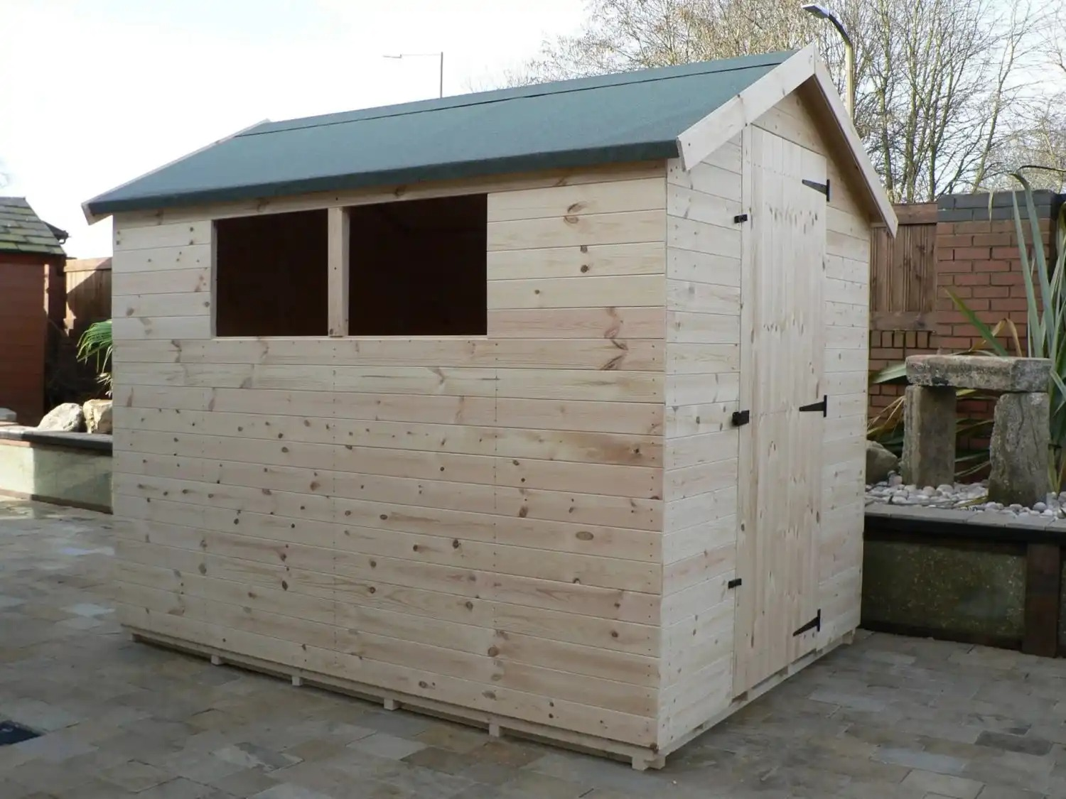 8' X 6' Apex Shed Full Size Windows